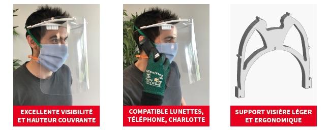 VIsière de protection compatible masques FFP2 OCOV